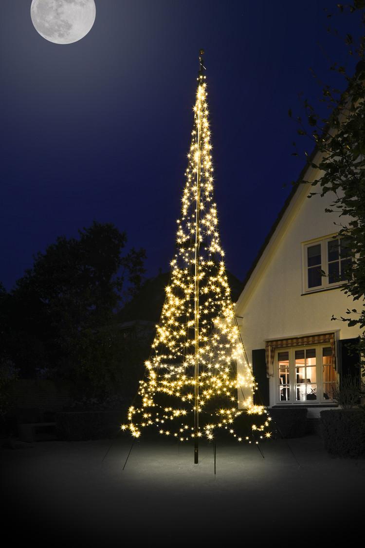 Vlaggenmast kerstboom