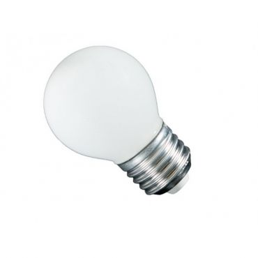 Kogellamp led E27 230 Volt 1 Watt - transparant