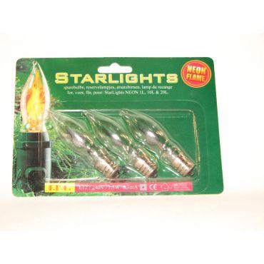 StarLights reservelamp 230V 1W neon flame E12