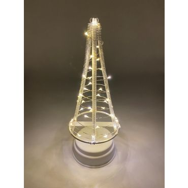 Santa's Tree 40 LEDS 26 cm wit