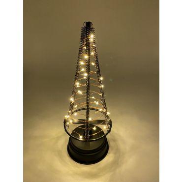 Santa's Tree 40 LEDS 25.5 cm zwart