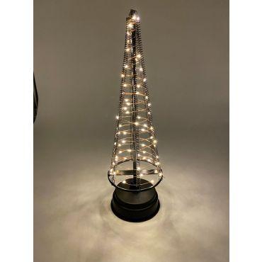 Santa's Tree 60 LEDS 32.5 cm zwart