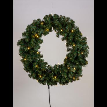Kunst kerstkrans 75cm 50L