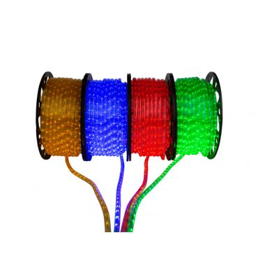 Led lichtslang Geel, blauw, rood en groen (aangesloten)